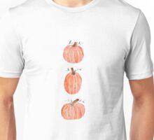 Watercolor Pumpkins - vertical Unisex T-Shirt