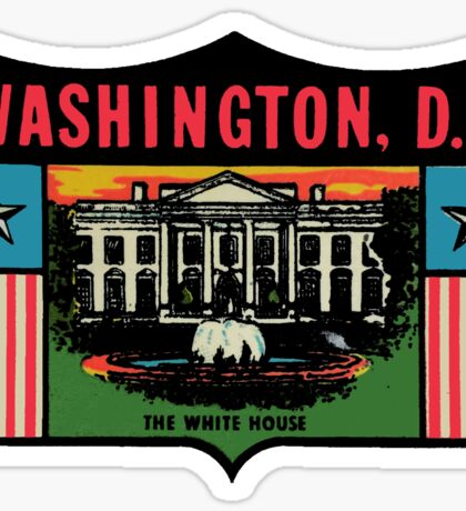 Washington DC White House Vintage Travel Decal Sticker