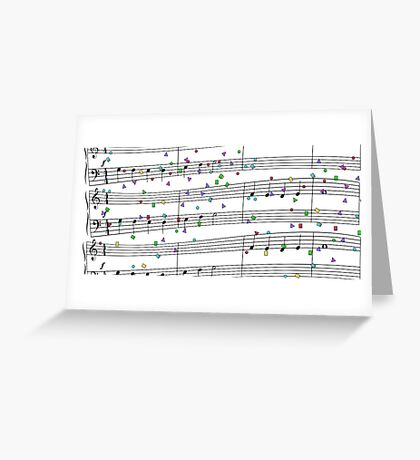 A Happy tune Greeting Card