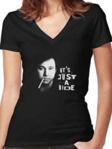 It's just a ride: Bill Hicks Women's Fitted V-Neck T-Shirt