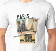 Paris Eiffel Tower Postcard Unisex T-Shirt