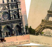 Paris Eiffel Tower Postcard Sticker