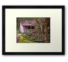 The Bath House at Waldheim Chalet, Cradle Mountain Framed Print