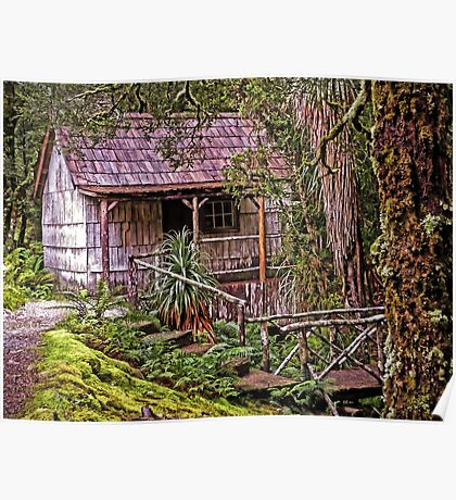 The Bath House at Waldheim Chalet, Cradle Mountain Poster