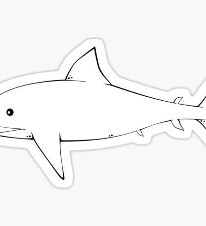 Shark BW Yellow Sticker