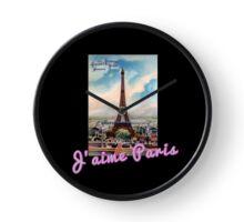 J'aime Paris (I Love Paris) Eiffle Tower Clock
