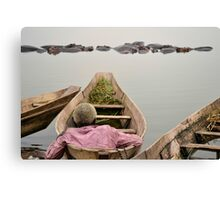 man on the boat Canvas Print