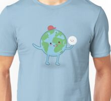 Earth and moon enjoying their day  Unisex T-Shirt