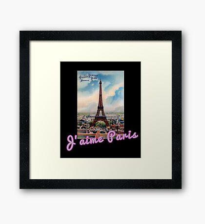 J'aime Paris (I Love Paris) Eiffle Tower Framed Print