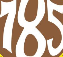 Hand Drawn Kansas Sunflower 785 Area Code Sticker