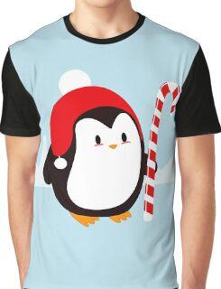 Kawaii Christmas Penguin Graphic T-Shirt