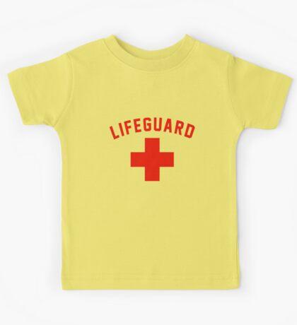 Lifeguard White Gray Black Swimming Pool Kids Tee