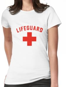 Lifeguard White Gray Black Swimming Pool Womens Fitted T-Shirt