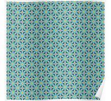 Persian Paper Pattern - Teal Tiles Poster