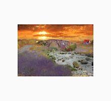 English Countryside Sunset Impressionist Unisex T-Shirt