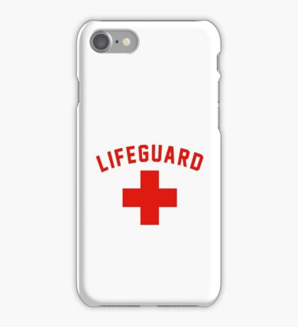 Lifeguard White Gray Black Swimming Pool iPhone Case/Skin