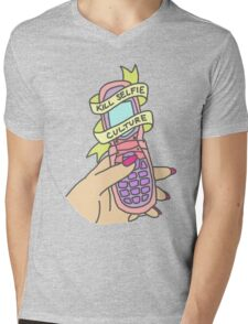 Kill selfie culture emoji tumblr trendy pastel 90s print Mens V-Neck T-Shirt