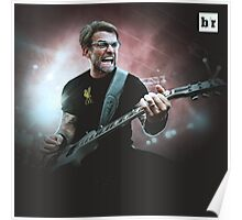 Heavy Metal Football Klopp Poster
