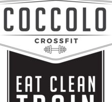 Coccolo Eat Clean Train Dirty CrossFit Sticker