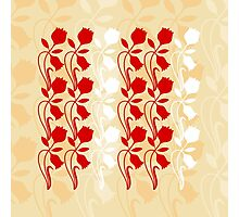 Layered Floral Silhouette Print (1 of 8 please see description) Photographic Print