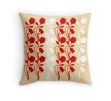 Layered Floral Silhouette Print (1 of 8 please see description) Throw Pillow
