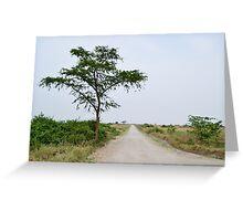 road in the African savanna Greeting Card