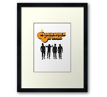 orange clockwork Framed Print