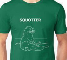 Squotter, White on Green Unisex T-Shirt