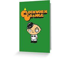 orange clockwork Family Guy Greeting Card