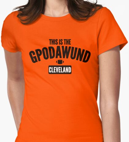 This Is The GPODAWUND (Black/White CLE) Womens Fitted T-Shirt