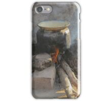 old pot on fire iPhone Case/Skin