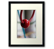Day 33 - red Framed Print