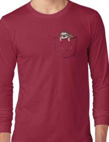 Sloth in a pocket Long Sleeve T-Shirt
