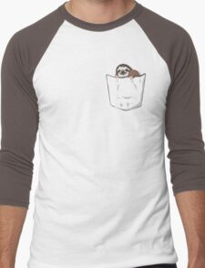 Sloth in a pocket Men's Baseball ¾ T-Shirt