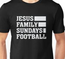 Jesus Family Sundays Football - Christian & Football Lover  Unisex T-Shirt