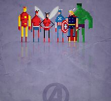 8-Bit Marvels Avengers by Paulo Capdeville