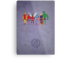 8-Bit Marvels Avengers Metal Print