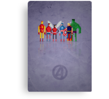 8-Bit Marvels Avengers Canvas Print