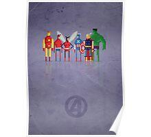 8-Bit Marvels Avengers Poster