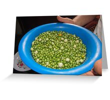 legumes and beans Greeting Card