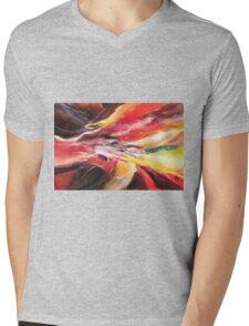 Abstract New Mens V-Neck T-Shirt