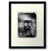 Hazy Police Public Call Box Framed Print