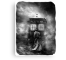 Hazy Police Public Call Box Canvas Print