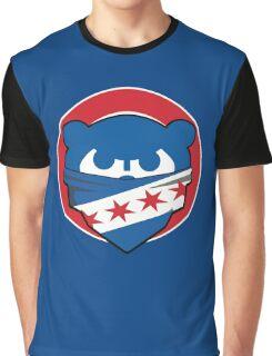 Cubbies Chicago Flag Bandana Face Graphic T-Shirt