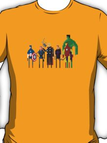 8-Bit Marvels Avengers Movie T-Shirt