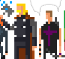8-Bit Marvels Avengers Movie Sticker