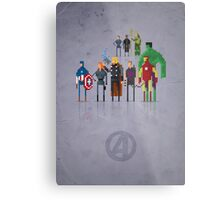 8-Bit Marvels Avengers Movie Metal Print