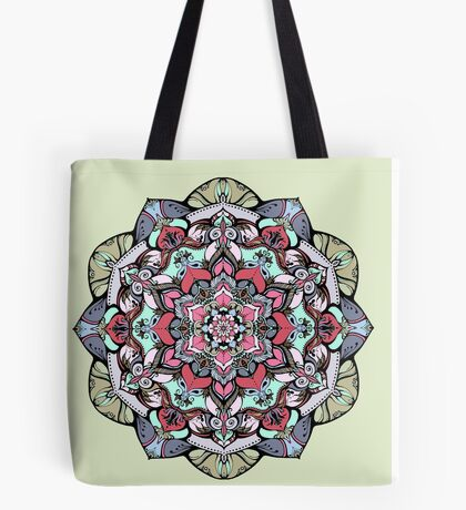 Flowers mandala #38 Tote Bag