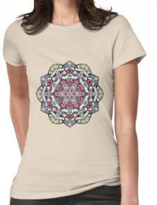 Flowers mandala #38 Womens Fitted T-Shirt