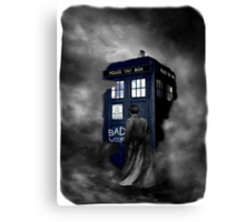 Hazy Bad Blue Police Public Call Box  Canvas Print